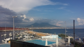 View on the Vesuvio from the Harbour